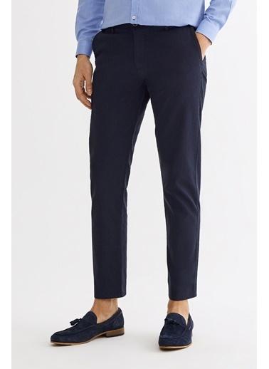 Avva Erkek  Yandan Cepli Armürlü Slim Pantolon A01Y3030 Lacivert
